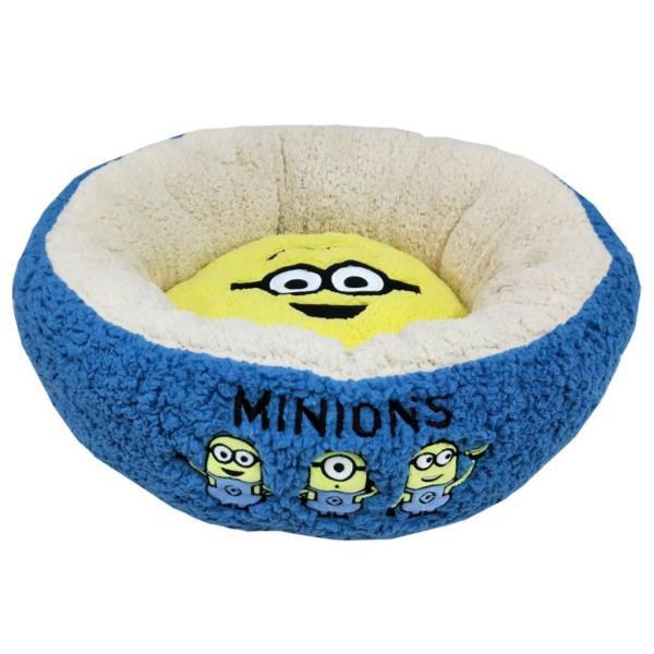 ミニオンズ ラウンドベッド mサイズ 犬 猫 ベッド 寒さ対策の通販は