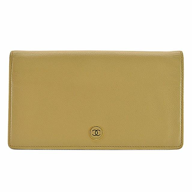 5381fa9342af 【定番人気】【中古】シャネル 二つ折り長財布 ココマーク CHANEL レディース