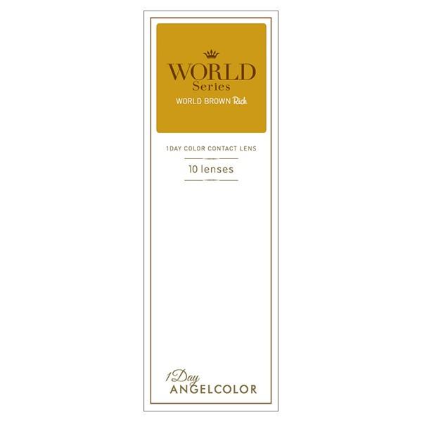 カラコン ワンデー カラーコンタクトレンズ エンジェルカラー デイリーズ ワールドシリーズ (10枚入) 度なし