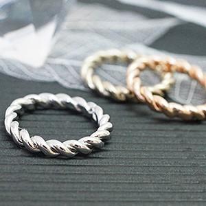 d0436e07100c25 ピンキーリング 指輪 小指 ねじりリング スクリュー加工 シンプル 激安 レディース 送料無料