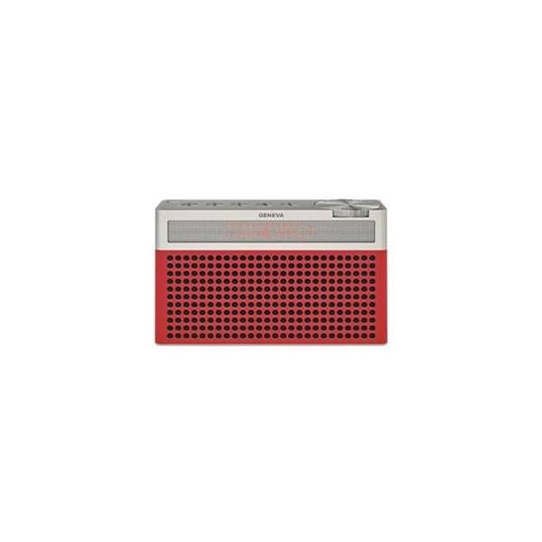 熱販売 Geneva Touring レッド S+ 875419016689JP [Bluetoothスピーカー(バッテリー内蔵/FMラジオ機能付き)]-オーディオ