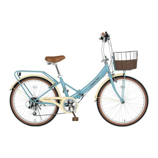 全国宅配無料 KCD SS-LD246RBS/PB-R8 グレイブルー シンプルスタイル EUROPA [折りたたみ自転車(24インチ・6段変速)], ミズカミムラ cacb673a