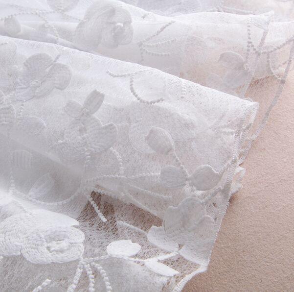 即納 ホワイト フラワーレース刺繍 清楚系 姫系 ロング丈 ワンピース リゾート パーティ