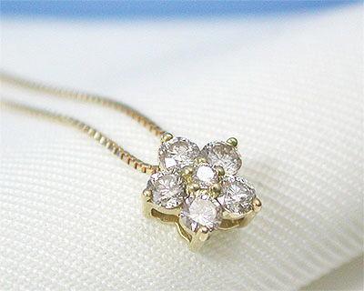 ●日本正規品● ダイヤモンド 【送料無料】 イエローゴールド K18YG プチネックレス-ネックレス
