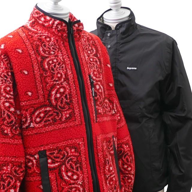 【残りわずか】 シュプリーム SUPREME Reversible Bandana Fleece Jacket リバーシブル バンダナ フリース ジャケット RED レッド OUTER, 氷見ジェラート 64616cca