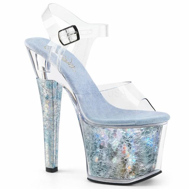取寄せ靴 送料無料 PLEASER プリーザー サンダル 18cmヒール 大きいサイズあり イベント セクシー サンタ 女装 パーティ- クリスマス コ