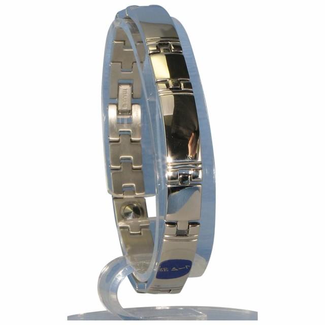 【初売り】 ミラー PT/IP ゲルマニウム5個付ブレスレット 116G S (17.5cm) H1103-32S MARE(マーレ)-ブレスレット