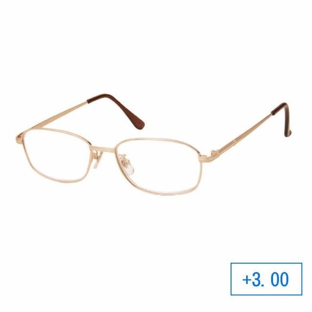 パーフェクトシニアグラス 老眼鏡 RM-102 メンズ +3.00 ゴールド