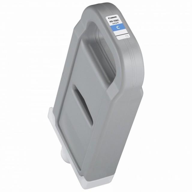 【ラッピング不可】 シアン 〔3個セット〕 大判プリンタインクカートリッジ 純正 PFI-706C 【送料無料】(まとめ買い)キヤノン-プリンター・インク