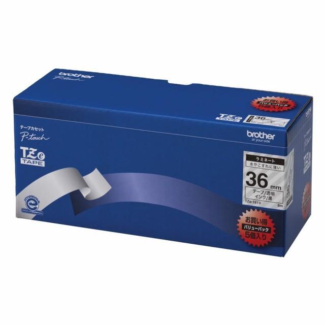 割引価格 【送料無料 TZE-161V】(まとめ買い)ブラザー ピータッチテープ ラミネートテープ 透明地/黒字 36mm 36mm 5本パック 5本パック TZE-161V 〔×3〕, シルクと寝具の快眠工房:a30e2b90 --- nak-bezirk-wiesbaden.de