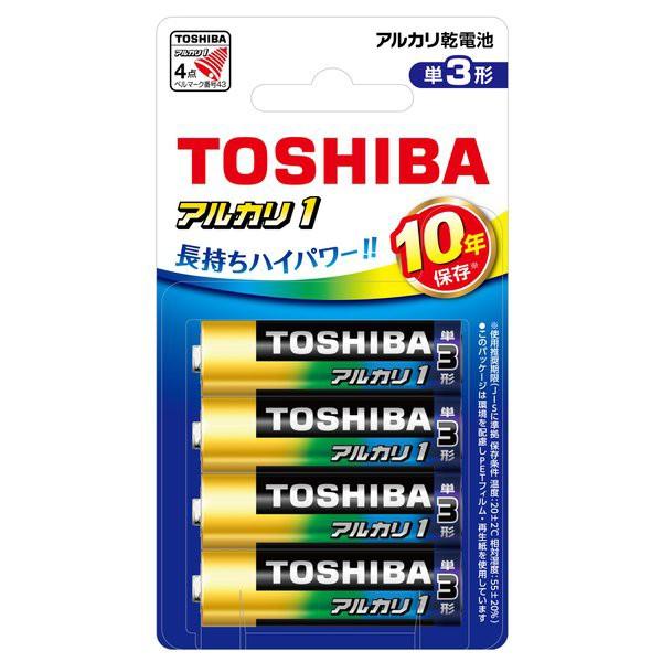 (まとめ買い)東芝 アルカリ乾電池 単3形 4本パック LR6AN 4BP 〔×5〕