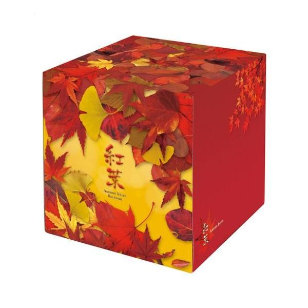 50個入 秋の販促品 紅葉ティッシュ 【代引不可】 7167 BOXティッシュ