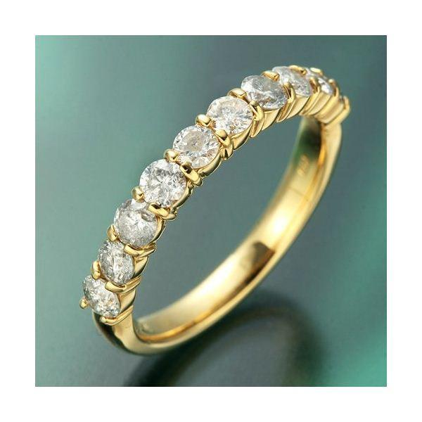 品質検査済 K18YG(イエローゴールド) ダイヤリング 指輪 1.0ctエタニティリング 17号, マキタドラッグオンライン cfb175f6