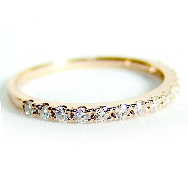 春早割 ダイヤモンド リング ハーフエタニティ 0.2ct 8号 K18 ピンクゴールド ハーフエタニティリング 指輪, 新品 9a24cb1f