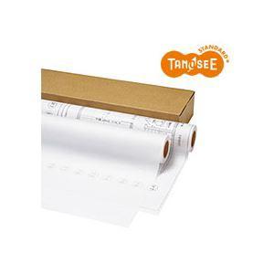 【送料無料/即納】  (まとめ)TANOSEE インクジェットプロッター用紙 トレペ80g A1ロール 594mm×50m 2本入×2箱, ふくいけん 129be366