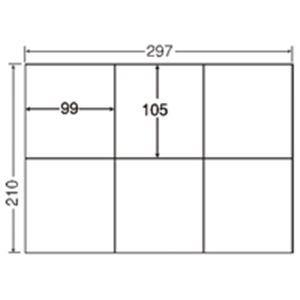 華麗 ナナ A4/6面 500枚 C6G 東洋印刷 コピー用ラベル (業務用3セット)-プリンター・インク