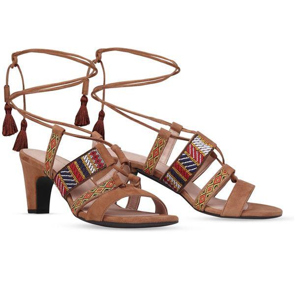 ビッグ割引 ヒール付け替え可能サンダル/婦人靴 〔Indie Brown/Block 7cm ブラウン系 サイズ:39(26cm相当)〕 Mime et moi ミミ・エ・モイ, 三珠町 139e2216