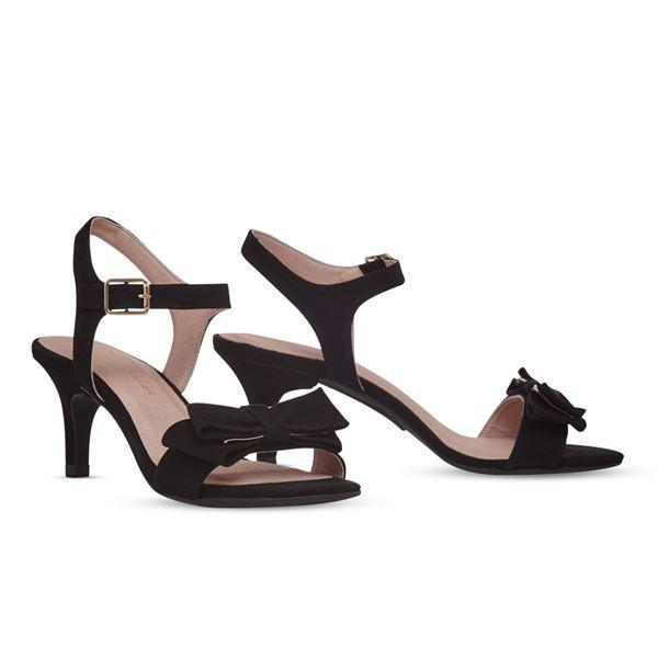 誕生日プレゼント ヒール付け替え可能サンダル/婦人靴 〔Black Bow/Stiletto 7cm ブラック サイズ:36(23cm相当)〕 Mime et moi ミミ・エ・モイ, ジュエリー 11時のティータイム 0978ab65