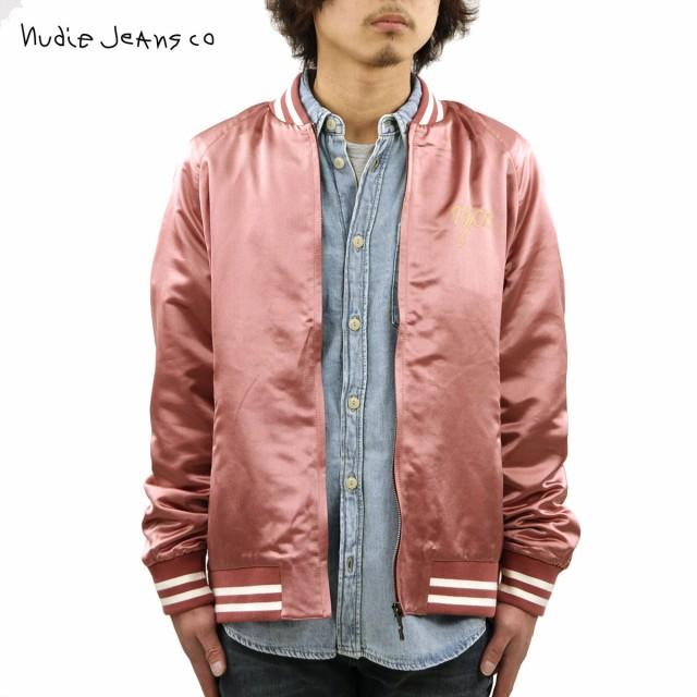 【返品交換不可】 ヌーディージーンズ ジャケット メンズ 正規販売店 Nudie Jeans アウター サテンジャケット MARK BASEBALL EYE CLOUD JACKET DUSTY RED R, コナガイチョウ 49ad8cec