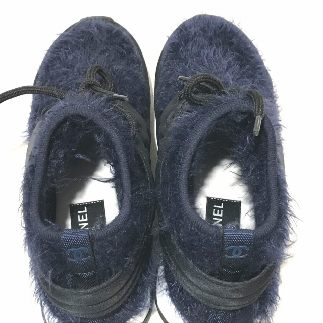 e92614c15ad9 新品同様 あす着 CHANEL シャネル G33729Y52887 18A レディースシューズ 靴 スニーカー ブラック