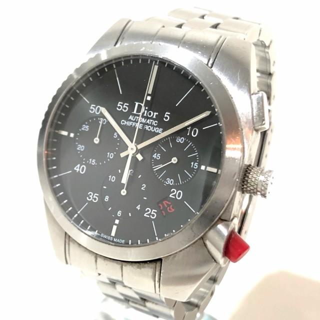 on sale ae86c f6eed あす着ディオール CD084610 シフルルージュ メンズ腕時計 クロノグラフデ イト 腕時計
