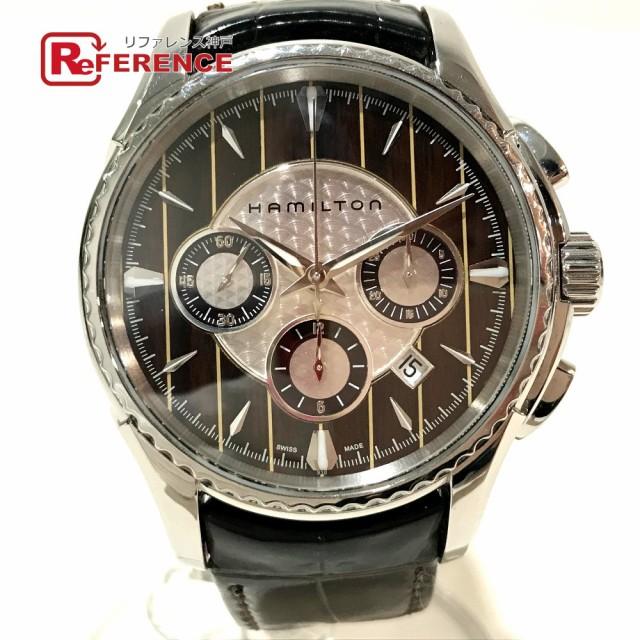 開店祝い あす着 HAMILTON ハミルトン H346160 アクアリーバ クロノグラフ 腕時計 シルバー×ブラック, さかもと布団店 827e8c59