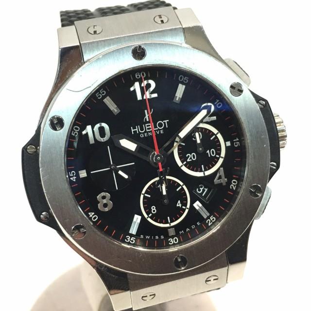 more photos 82116 b4621 あす着 HUBLOT ウブロ 301.SX.130.RX ビッグバン オートマチック ラバーベルト 腕時計 ブラック