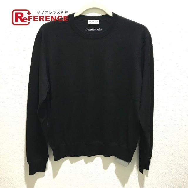 特売 未使用 あす着 BALENCIAGA バレンシアガ 565750 ロゴ タグ有 セーター ブラック, 大人の上質  c69ec047