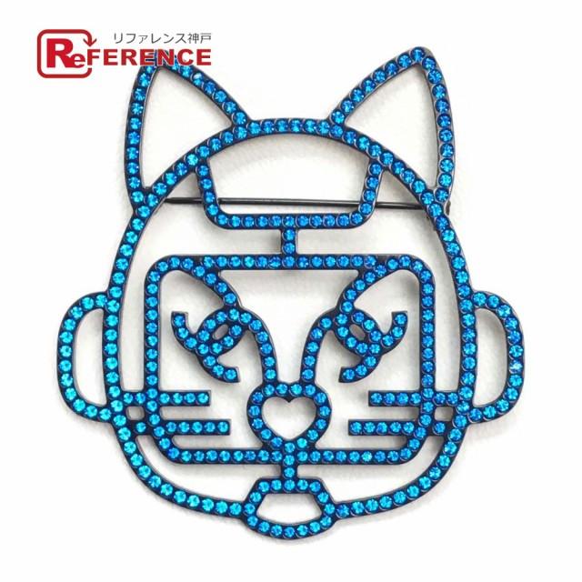 【超お買い得!】 新品同様 あす着 CHANEL シャネル キャットロボット キャットロボット 猫モチーフ B17S ブローチ ブローチ B17S ブルー, ゴルフ処 一休:e3eff7d3 --- paderborner-film-club.de