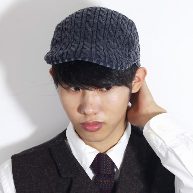 ハンチングニット帽 ケーブル編み ニットハンチング メンズ 秋冬 ニット ハンチング レディー