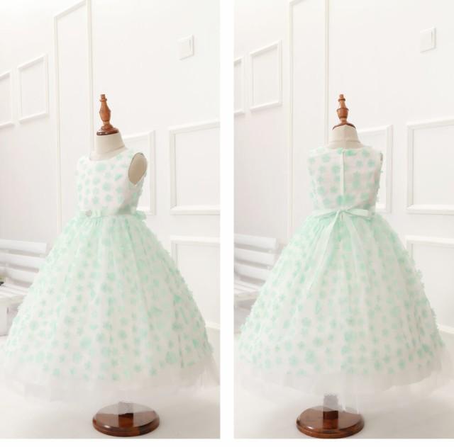 a6c45355f6bf2 子供服 女の子 正装 ロング ドレス フォーマル チュールレース ビジュー ノースリーブ リボン お花 モチーフ 刺繍 ピンク