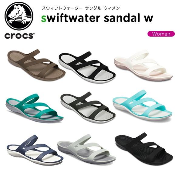 クロックス(crocs) スウィフトウォーター サンダル ウィメン(swiftwater sandal w) レディース/女性用/シューズ/サンダル[C/A]