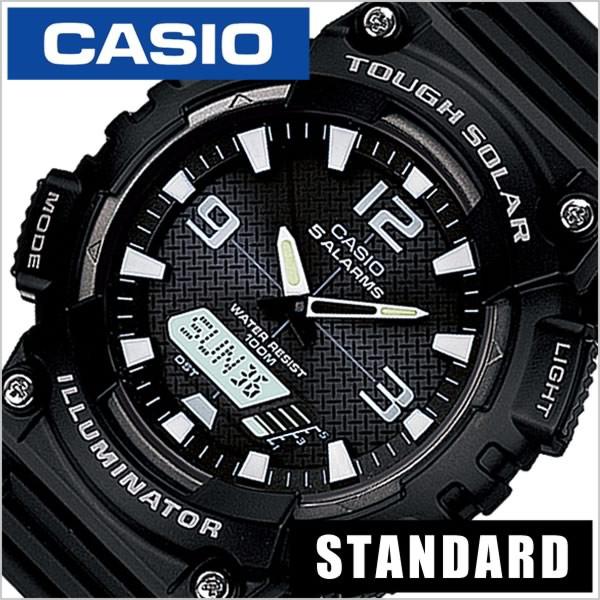 ddbd09c866 カシオ腕時計 CASIO時計 CASIO 腕時計 カシオ 時計 スタンダード STANDARD ANA-DIGI メンズ/ブラック