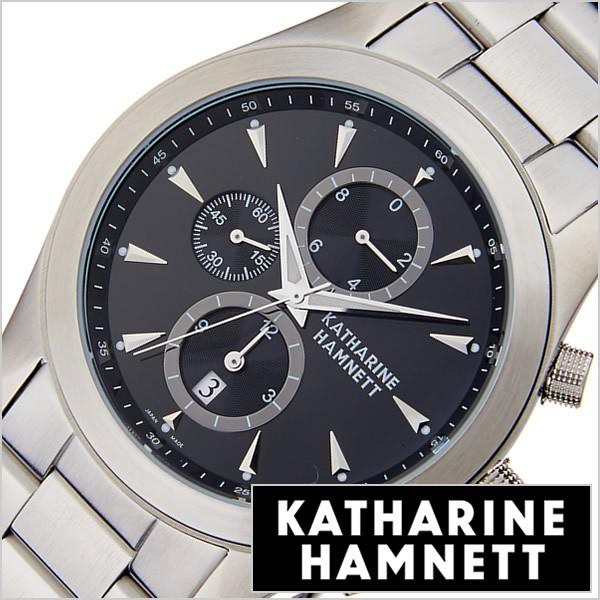 best service 9d3f2 8d0bc キャサリンハムネット腕時計 KATHARINE HAMNETT 腕時計 キャサリン ハムネット 時計 クロノグラフ 2 CHRONOGRAPH II  メンズ/ブラック KH2|au Wowma!(ワウマ)