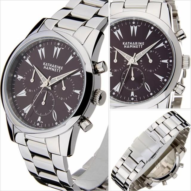 size 40 99673 fe1a7 キャサリンハムネット腕時計 KATHARINE HAMNETT 腕時計 キャサリン ハムネット 時計 クロノグラフ 5 CHRONOGRAPH V  メンズ/パープルグレ|au Wowma!(ワウマ)