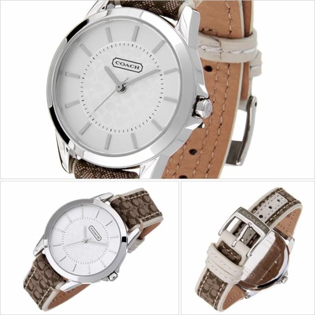 a9abc4559ee1 コーチ腕時計 COACH時計 COACH 腕時計 コーチ 時計 クラシック シグネチャー CLASSIC SIGNATURE レディース シルバー  CO-