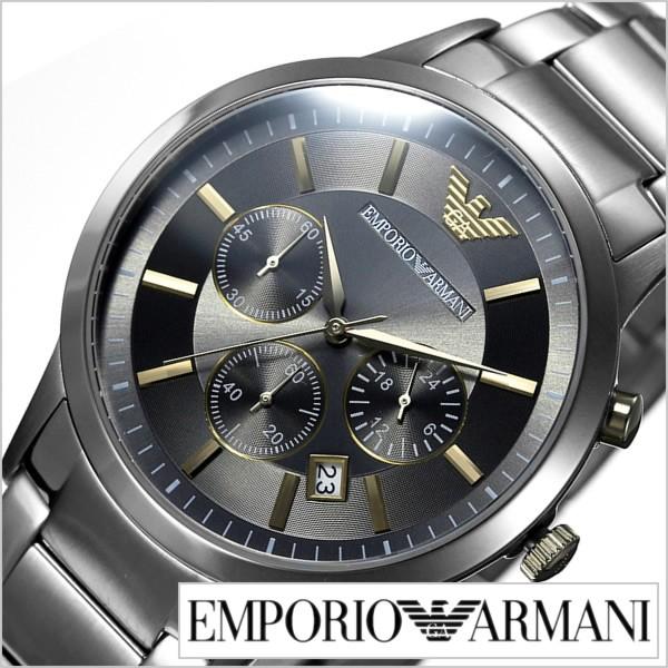 世界の エンポリオアルマーニ腕時計 EMPORIOARMANI時計 EMPORIO ARMANI 腕時計 エンポリオ アルマーニ 時計 レナート RENATO メンズ/グレー AR11, フロアーシール b3f01cf5