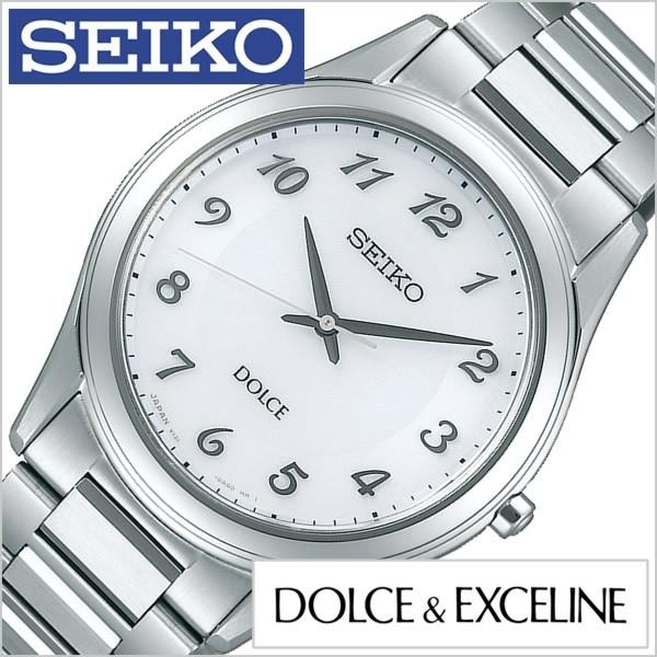 愛用  セイコー腕時計 時計 SEIKO時計 メンズ SEIKO 腕時計 セイコー セイコー 時計 ドルチェ&エクセリーヌ DOLCE&EXCELINE メンズ ホワイト SADL013, FONTANA(フォンターナ):75056389 --- 1gc.de
