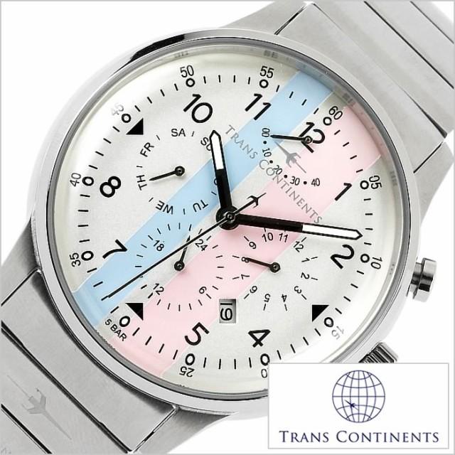 【日本未発売】 [正規品]TRANS CONTINENTS時計 トランスコンチネンツ腕時計 TRANS CONTINENTS トランスコンチネンツ 時計 TAQ-6601-02, 四條畷市 13223a6c