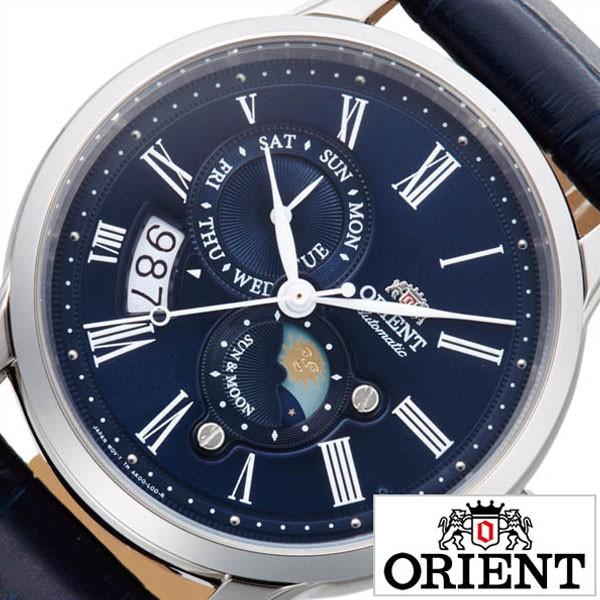 最新作の サンアンドムーン CLASSIC 時計 MOON 腕時計 ORIENT 腕時計 時計 オリエント ORIENT SUN オリエント ネイビー RN-AK & メンズ クラシック-腕時計メンズ