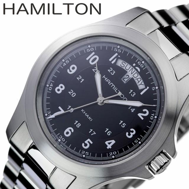 promo code 99cd8 f08d6 ハミルトン 腕時計 HAMILTON 時計 カーキ KHAKI メンズ 腕時計 ブラック H64451133|au Wowma!(ワウマ)