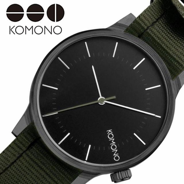 【ギフト】 コモノ 腕時計 KOMONO 時計 ウインストン リーガル WINSTON REGAL レディース ブラック KOM-W2273, 優遊ゆう 1defe645