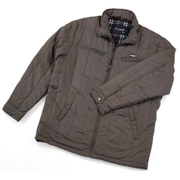 b88a525ce92 大きいサイズ メンズ ハーフコート ビジネスコート ウインドブレーカー 衿ニット 防寒 防風 撥水 加工