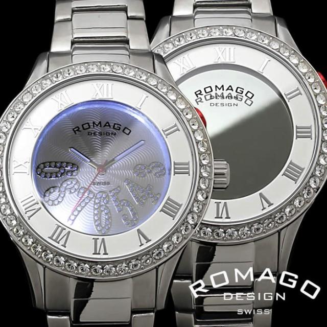 【期間限定送料無料】 【送料無料】ロマゴ ROMAGO 腕時計 レディース ミラーウォッチ メンズ RM019-0214SS-SVWH【激安】【SALE】, ヨカワチョウ 2b168615
