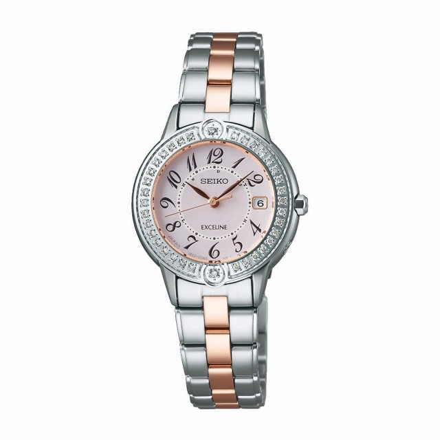 0501dc424e セイコー エクセリーヌ レディース腕時計 ソーラー電波 SWCW073 ダイヤモンド 国内正規品 取り寄せ