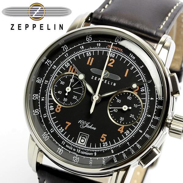 【最安値に挑戦】 ツェッペリン 腕時計 本革レザー 限定モデル 100周年 限定モデル クロノグラフ クロノグラフ 本革レザー メンズ腕時計 7674-2, Import Fan:c4080e83 --- chevron9.de