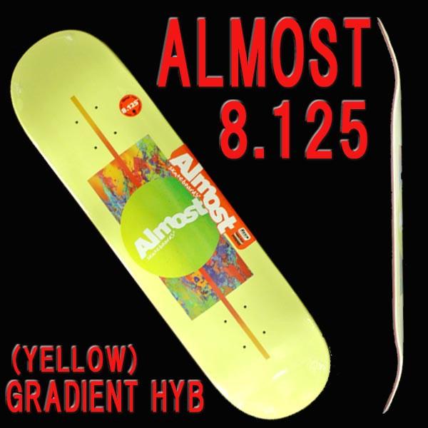 almost オールモスト gradient hyb yellow 8 125 deck sk8 スケート