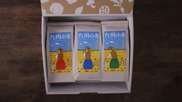 九州小麦シリーズギフト(詰め合わせ)(薄力粉(シロガネ)/強力粉(ミナミノカオリ)/中力粉(チクゴイズミ))お歳暮/お中元/御祝い/贈り物/贈