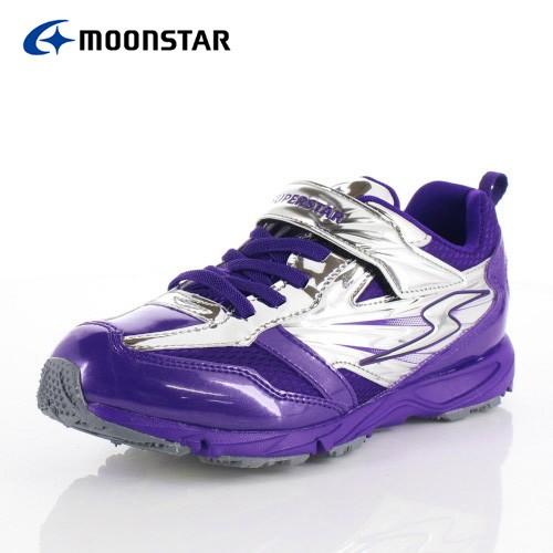 338beeb09dc547 ムーンスター スーパースター バネのチカラ キッズ ジュニア スニーカー MoonStar J887 パープル 2E 子供靴
