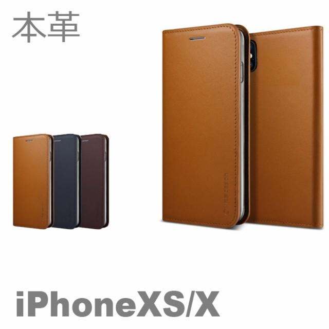 1501f3ab6d Genuine Leather Diary iPhoneX iPhoneXS 手帳型 手帳 本革 レザー ケース カバー カード収納 アイホン